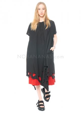 Moyuru, kurzärmeliges Kleid mit Lochmuster 211404