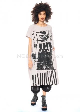 Moyuru, langes Kleid mit Print 211408
