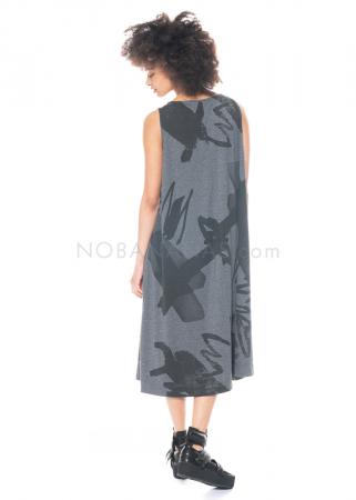 Moyuru, ärmelloses langes Kleid mit allover Print 211422