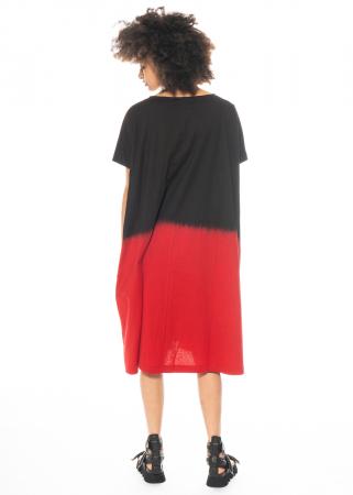 Moyuru, zweifarbiges kurzärmeliges Kleid 211428
