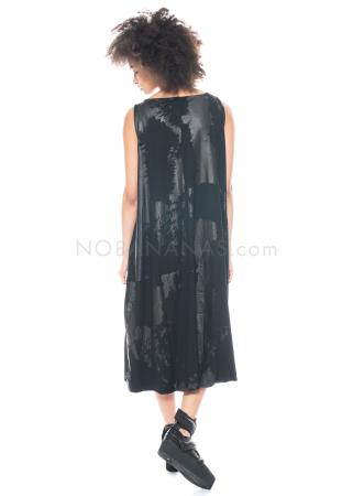 Moyuru, ärmelloses langes Kleid mit glänzendem Print 211453