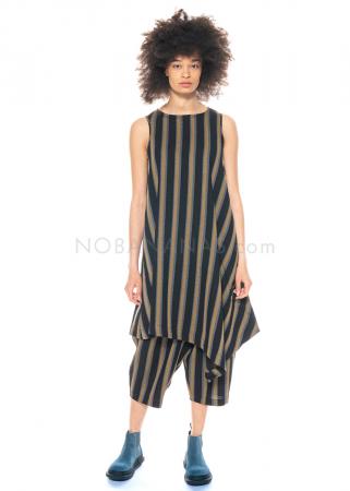Moyuru, ärmelloses Kleid im edlen Streifen Look 211676