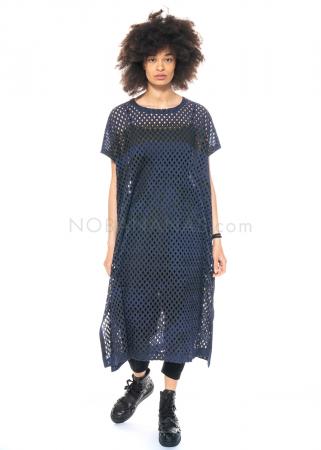 Moyuru, Kleid aus Lochmuster Stoff mit dezentem Print 211701