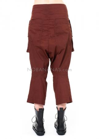 RUNDHOLZ DIP, schmale verkürzte Hose mit applizierten Taschen 2202190103