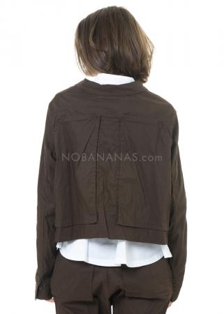 RUNDHOLZ, kurze Jacke aus Baumwoll-Leinen-Mix mit Applikationen 2201201107