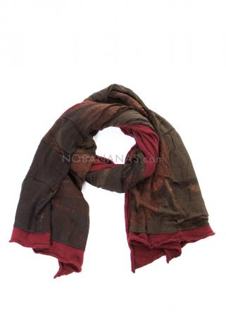 RUNDHOLZ, zweilagiger Schal mit Print 2201801404