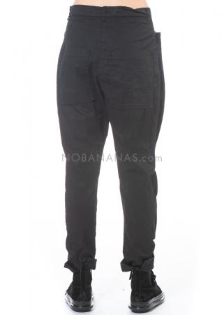 RUNDHOLZ DIP, lange Hose mit angehefteten Stoffsegmenten 2202200105