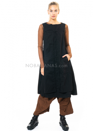 RUNDHOLZ DIP, ärmelloses Kleid mit angehefteten Stoffsegmenten 2202200908