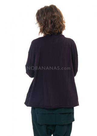 RUNDHOLZ BLACK LABEL, T-Shirt mit Tafteinsatz und Hundeprint 2203280506