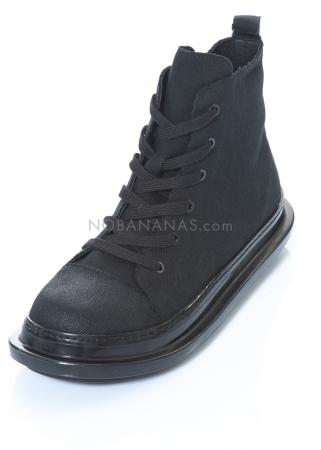 RUNDHOLZ BLACK LABEL, Schnürstiefelette aus Leder und Textil 2203985252