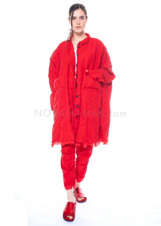 RUNDHOLZ DIP, zweilagiger One Size Mantel mit geknöpften Taschen 1212261204