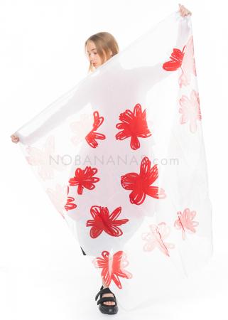 RUNDHOLZ DIP, großer Schal mit Blumen-Print 1212311411