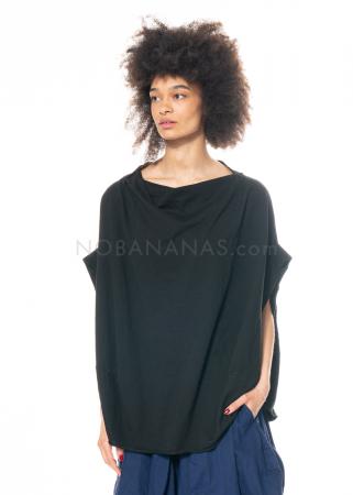 RUNDHOLZ DIP, einfarbiges ballonförmiges Baumwoll-T-Shirt 1212420503
