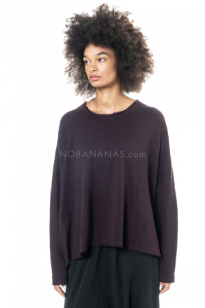 RUNDHOLZ BLACK LABEL, Basic T-Shirt aus weichem Winterjersey 2203510503