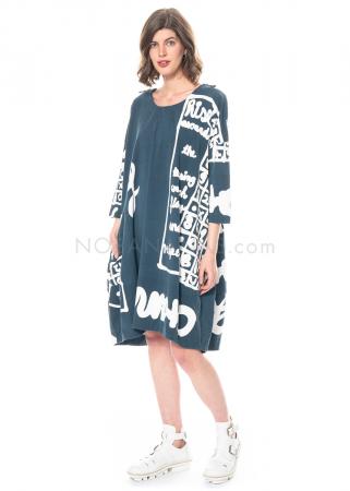 RUNDHOLZ BLACK LABEL, tulpenförmiges Kleid aus Sweatshirtstoff mit Printmuster 1213290905