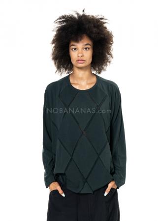 RUNDHOLZ BLACK LABEL, weites T-Shirt aus softem Jersey mit Mesh 2203300503