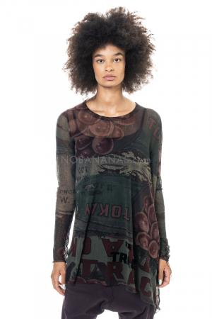 RUNDHOLZ BLACK LABEL, asymmetrisches T-Shirt 2203340504