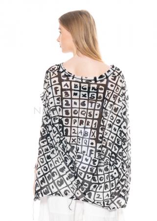 RUNDHOLZ BLACK LABEL, kugelförmiges T-Shirt aus leichter Sommerbaumwolle 1213340505