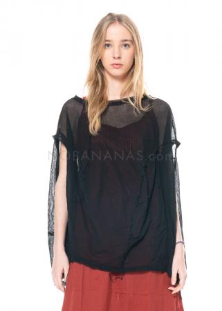 RUNDHOLZ BLACK LABEL, kugelförmiges T-Shirt aus transparenter Baumwolle 1213340525