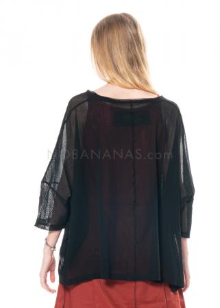 RUNDHOLZ BLACK LABEL, T-Shirt aus transparenter Baumwolle 1213340529