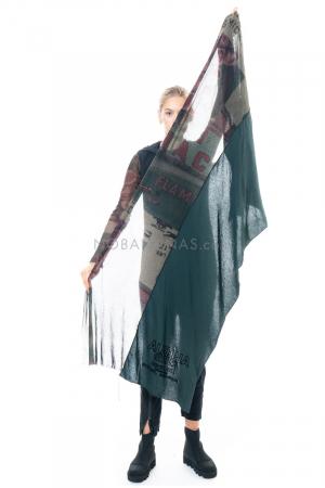 RUNDHOLZ BLACK LABEL, zweilagiger Schal mit Print 2203341407