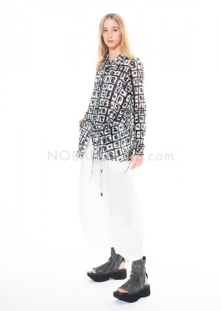 RUNDHOLZ BLACK LABEL, 7/8 linen pants with extra wide legs 1213540102