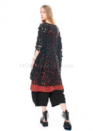 RUNDHOLZ BLACK LABEL, Kleid in weiter A-Linie mit Cut-outs 1213800921
