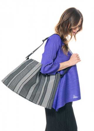 PLEATS PLEASE ISSEY MIYAKE, striped shoulder bag