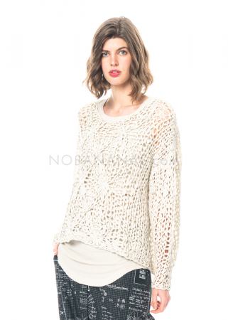 RUNDHOLZ, hand knitted tunic from voile tapes 1211447001