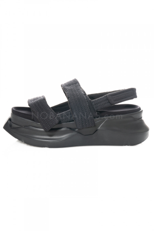 DRKSHDW by Rick Owens, Abstract Sandal in black/black