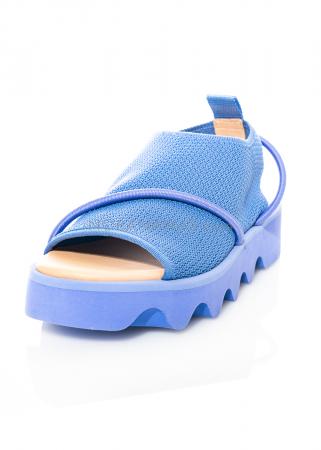 ISSEY MIYAKE x UNITED NUDE, gestrickte Sandale Bind mit elastischen Bändern