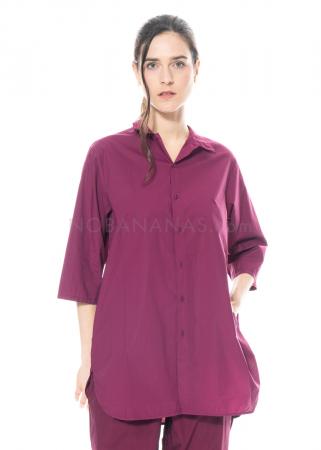 LABO.ART, Shirt Camicia Elia Sushi aus Baumwolle plum