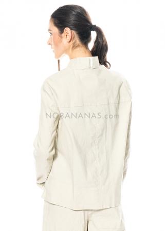 annette görtz, elastische Jacke Cor aus Leinen-Baumwollware