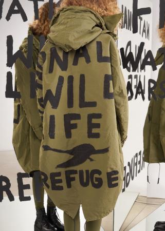 RUNDHOLZ DIP, zweiteiliger Mantel mit Rücken-Print 2202381223