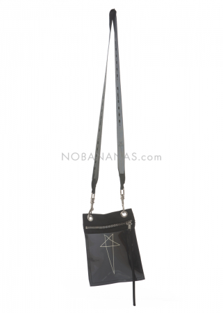 DRKSHDW by Rick Owens, neck pouch with pentagram
