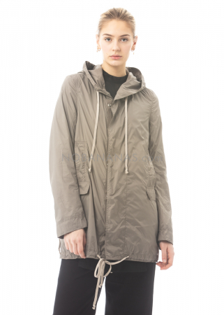 DRKSHDW by Rick Owens, parka made from recycled fishing nets dust