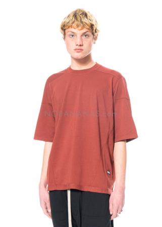 DRKSHDW by Rick Owens, onesized Walrus T-Shirt in Dark Cherry