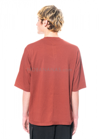 DRKSHDW by Rick Owens, onesized Walrus T-Shirt in Dark Cherry
