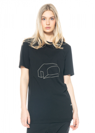 DRKSHDW by Rick Owens, T-Shirt Level mit grafischem Print in Black/Pearl