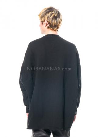 DRKSHDW by Rick Owens, onesized Crater Sweatshirt in Black