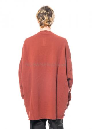 DRKSHDW by Rick Owens, onesized Crater Sweatshirt in Dark Cherry