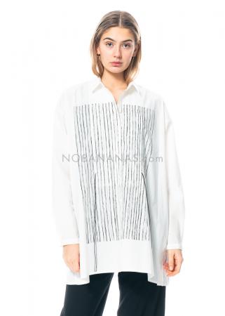 annette görtz, lange Bluse Elana1 Siebdruck-Design