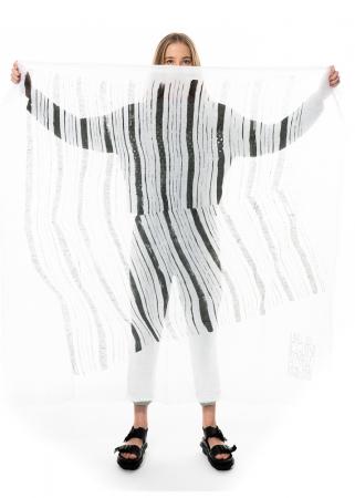 annette görtz, Schal Fold mit Druck inspiriert von Egon Schiele