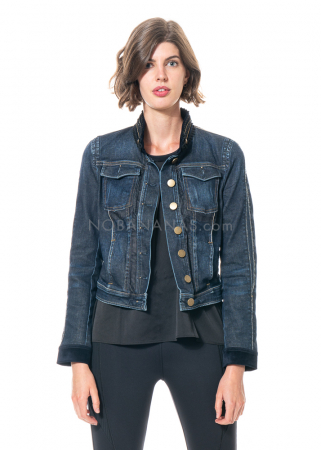 HIGH, Jacke Formidable aus blauem Baumwolldenim