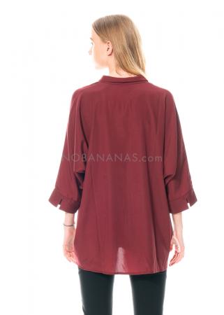 austriandesign, einfarbige Hemdbluse aus Seide