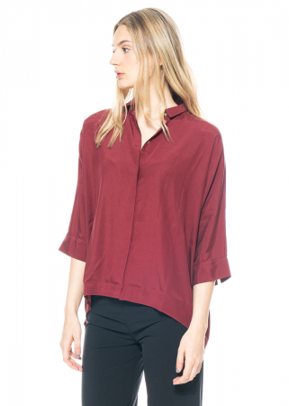 austriandesign, unicolored silk shirt blouse