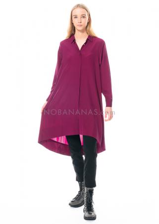 austriandesign, weites Hemdblusenkleid aus Seide