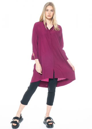 austriandesign, wide shirt blouse dress from silk