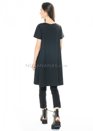 HINDAHL & SKUDELNY, schwarzes Kleid mit Rundhalsausschnitt 121K07