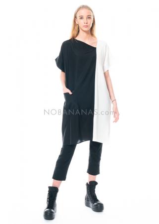austriandesign, Seidenkleid mit asymmetrischem Ausschnitt